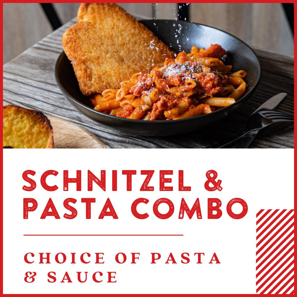 Schitzel Pasta Combo